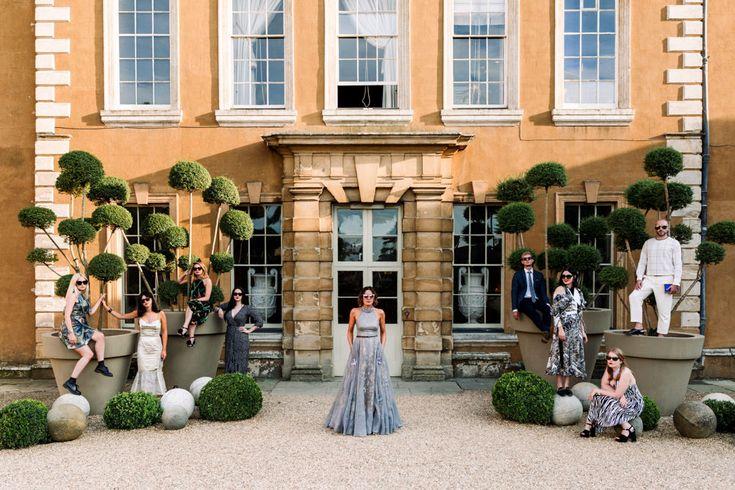 Bride & Best Girls - Millar Cole Photography | Stylish Wedding at Aynhoe Park