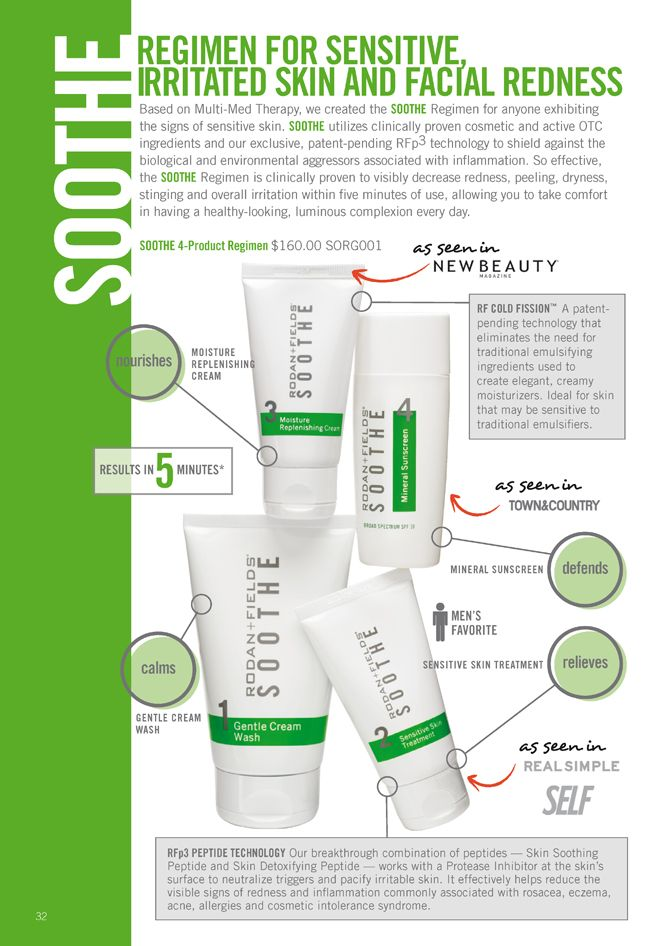 Rodan and Fields Soothe no more red irritated skin https://visibleproof.myrandf.com/Shop/Soothe