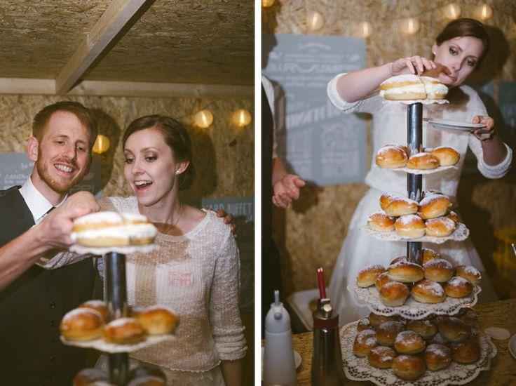 "Instead of a wedding cake, create a wedding dessert masterpiece. A dessert DIY-stand where your guest can create their own traditional Swedish sweet; ""semlan"" or ""fastlagsbullen"". Julia Lillqvist | Yvonne and Carolus | http://julialillqvist.com"