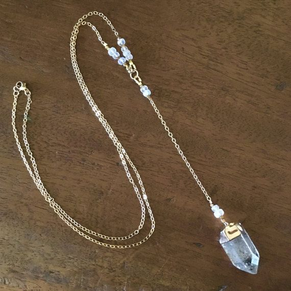 Rainbow Moonstone Necklace   Crystal Collection by AgostinaJewelry