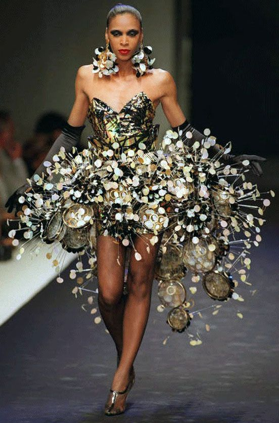 Paco Rabanne Robe M 233 Tal Et Tambourins 2012 Couture