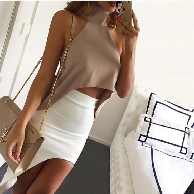 Our 'KALI High Low Top' in TAUPE and IVORY are BACK in stock!! Shop: emprada.com