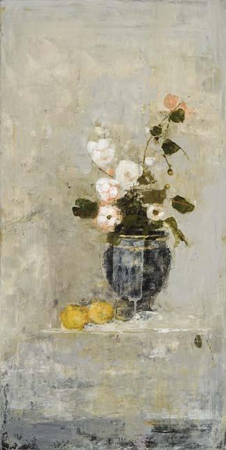 Goxwa, Black Vase, Oil and Wax on Canvas. #art #encaustic #axelle