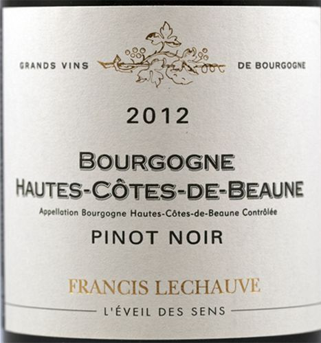 Francis Lechauve - proper Burgundy and affordable