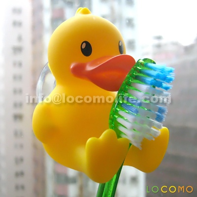 set 4 cute duck bathroom toothbrush holder stand duckling ducky
