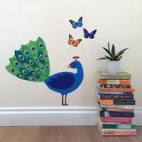 peacock wall sticker / decal - perfect for a woodland theme room