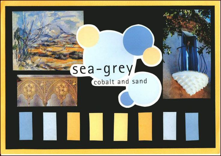 Sea Grey Colbalt And Sand Mood Board