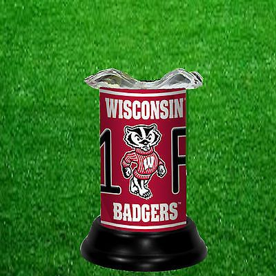 WISCONSIN BADGERS ELECTRIC TART WARMER/FRAGRANCE LAMP - FREE SHIPPING
