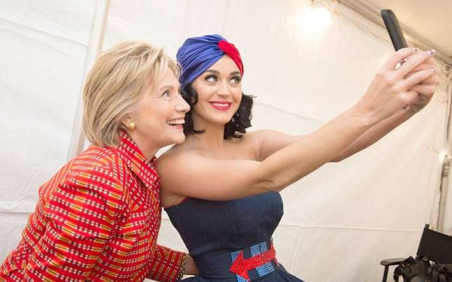 Katy Perry's selfie with Hillary Clinton in turban gone viral