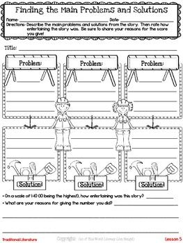 Freebie! This resource contains a lesson for both reading and writing workshops on identifying problems and solutions during reading. It also includes a printable graphic organizer and thinkmark for assessment.
