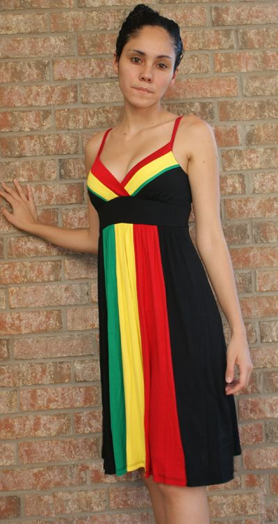 Model The Bottom Of The Skirt Slims With The Rasta Colors To Hug Your Hips The Front Neckline Has A Cowl Folding LookHand Wash Cold Water Do Not Dry 95% Rayon Bob Marley One Love Black Fringe TShirt  Womens  Would My School Dress