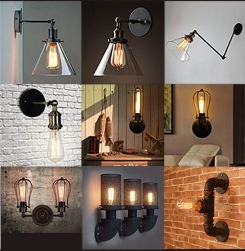 Vintage Industriel Lampe Murale Lumière Applique Collection | eBay