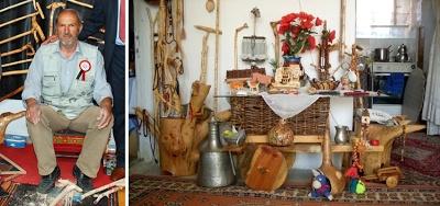 Yozgat'ın Aydıncık ilçesine bağlı Kösrelik köyündeki evini adeta bir folklor müzesine dönüştürmüş olan Raşit Öztürk, ağaç köklerinden orijinal bastonlar, ağaç malzeme kullanarak da at arabası, kağnı gibi eskiden kullanılan ulaşım araçlarının ve tarım aletlerinin maketlerini yapıyor.    Kaynak: http://www.kumbetova.com/Konu-Aydincik-li-Rasit-Ozturk-Emitt-Fuarinda.html