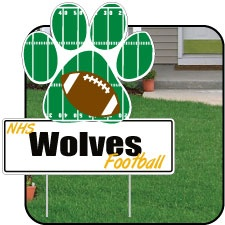 Football Yard Signs, Designed Online Fast. victorystore.com