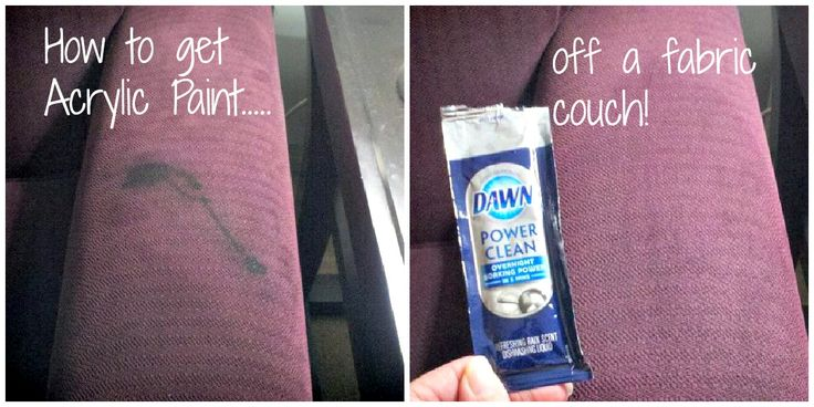 How to get acrylic paint off a fabric couch carpet