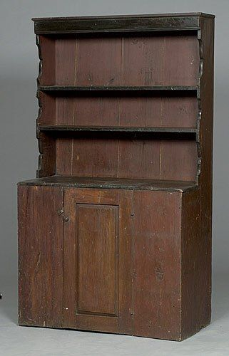 Best Early New England Pewter Cupboard Pine With Open 640 x 480