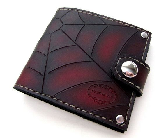 Hey, I found this really awesome Etsy listing at https://www.etsy.com/ru/listing/128322325/red-and-black-web-leather-mens-bifold