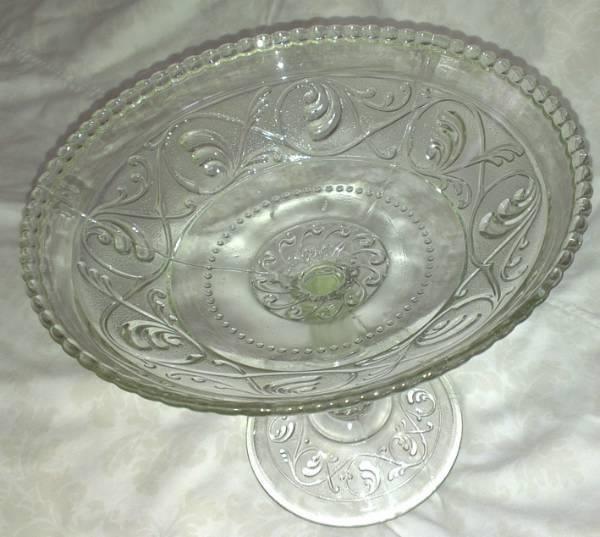 Stettfat / vase i pressglass