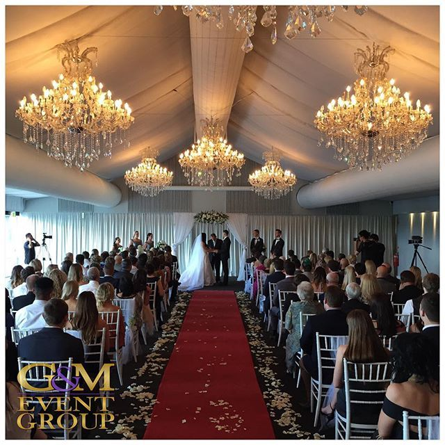 A stunning ceremony for our gorgeous bride and her groom - congratulations Noelle & Regan!! || #GMEventGroup #MagnifiqueWedding #MCGlennMackay #DJBenShipway #MarqueeWedding #Ceremony at @victoriaparkgolf  #BrisbaneWedding #QueenslandWedding