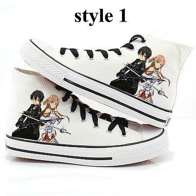 Sword Art Online Shoes Converse Kirito And Asuna