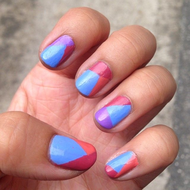 One of my favorite manicures EVER. Inspired by @thesammersaurus :) I love how well the colour combination worked out! :) 2014 manicure 25 :)