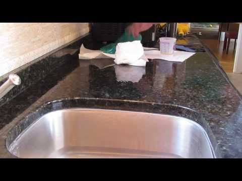 Granite Fabrication- Step By Step How To Fix A Chip In Granite & Match The Surface Shine! - YouTube