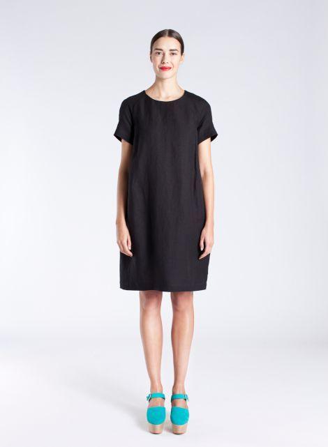 Sinja-mekko (musta) |Vaatteet, Naiset, Mekot ja hameet | Marimekko