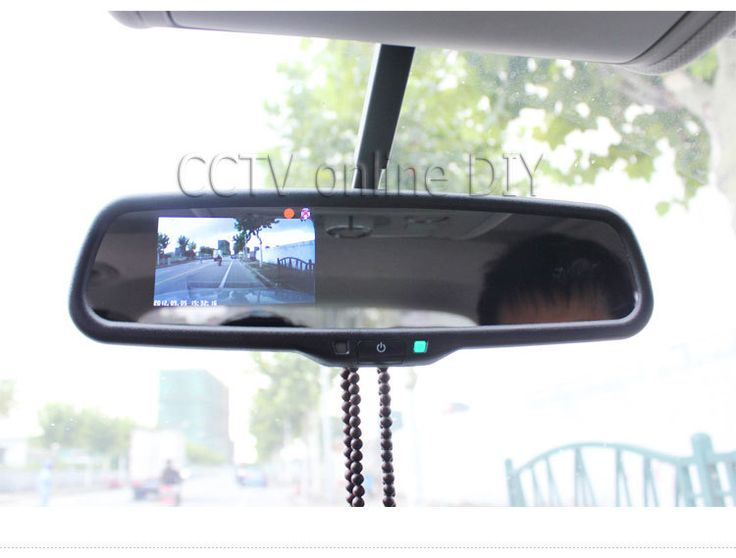 "3.5"" inch special TFT Car LCD rear View Rearview DVD mirror monitor screen 2CH AV in"