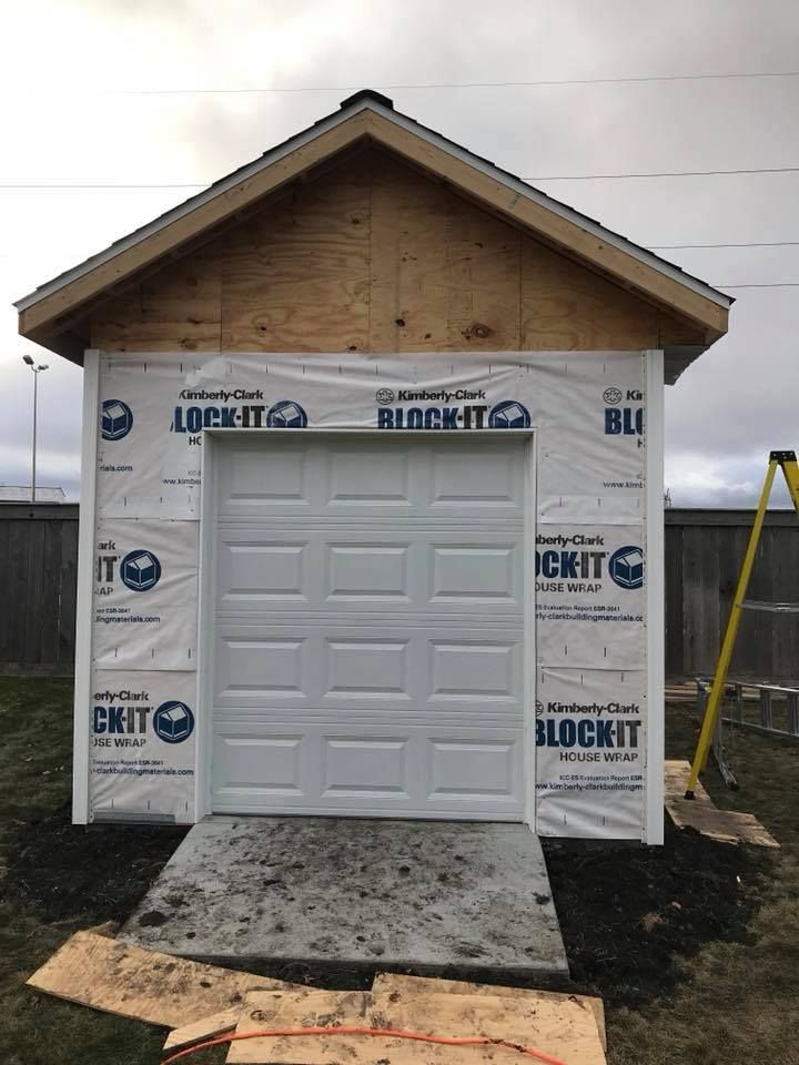 Thinking Of Doing A Shed Why Not Use A Garage Door Instead Of A Walk In Door Here Is A Shed With A C H I Overhead Doors 2250 2 Overhead Door Shed Overhead