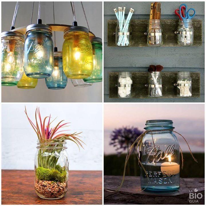 Ideas para reciclar frascos de cristal