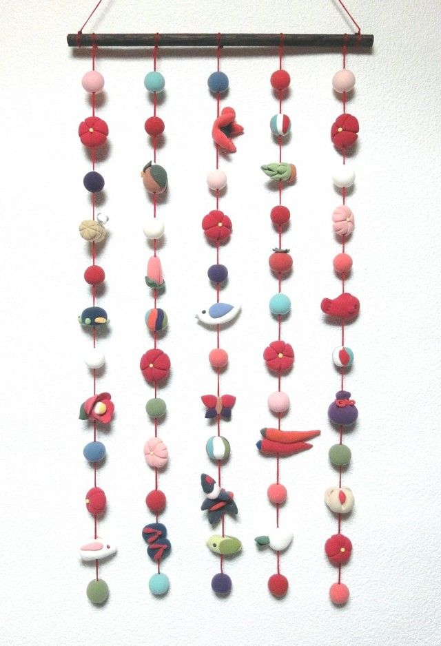 Hanging decorations for Girl's festival in Japan / つるし飾り ひな祭り