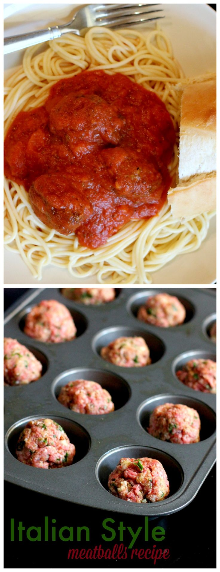 Italian Style meatballs that are unique and delicious, a crowd pleaser! You will never eat another homemade meatball recipe after you try this! www.pinkwhen.com
