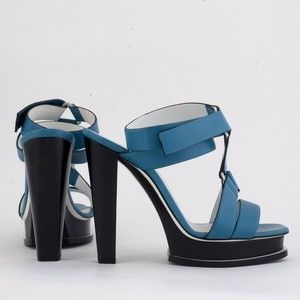 JIL SANDER blue shoes size 37