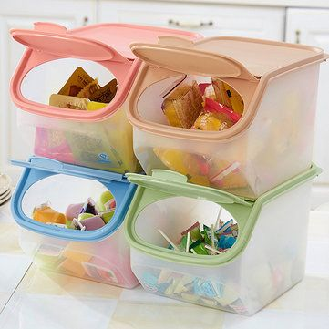 Kitchen Grains Storage Boxes Extra Thicker Stackable Storage Box Refrigerator Fresh Tank Barrel Cheap - NewChic Mobile.
