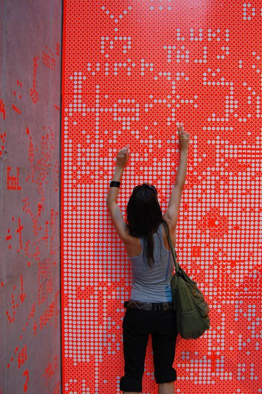 INTERACTIVE WALL - this would make such a cool LOFTwall panel!
