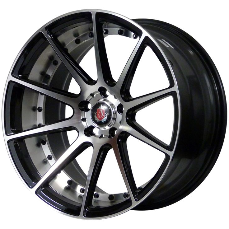 AXE EX16 GLOSS BLACK SILVER FACE+BARREL alloy wheels with stunning look for 5 studd wheels in GLOSS BLACK SILVER FACE+BARREL finish with 19 inch rim size