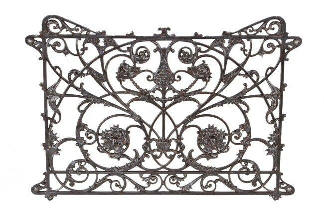 American Ornamental Cast Iron Interior Balcony Grille Or