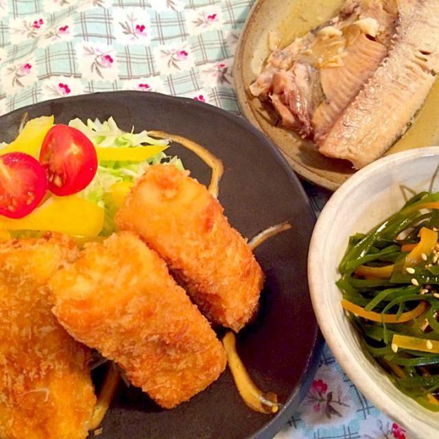 晩御飯~ - 12件のもぐもぐ - 高野豆腐フライ by yumiko