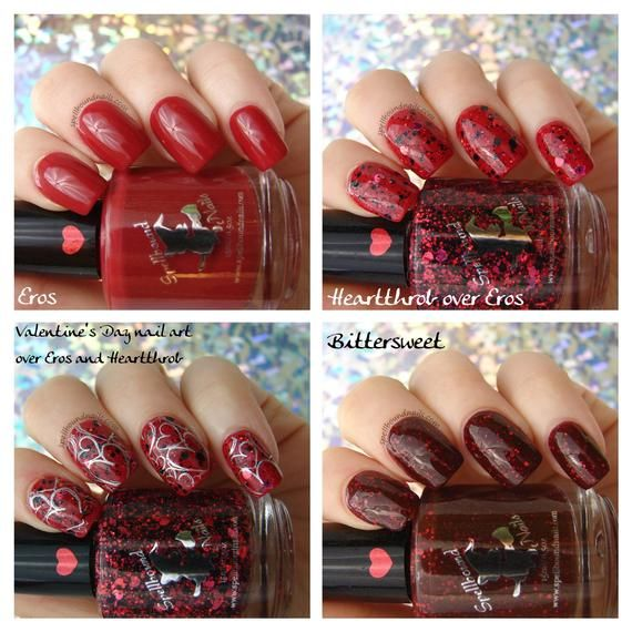 FULL SIZE February Reds – Rainbow Monthly custom nail polish