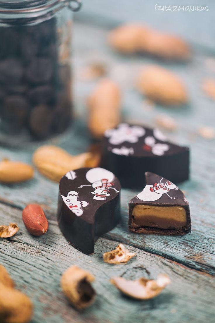 ízharmonikus: Mogyoróvajas-tejcsokis bonbon