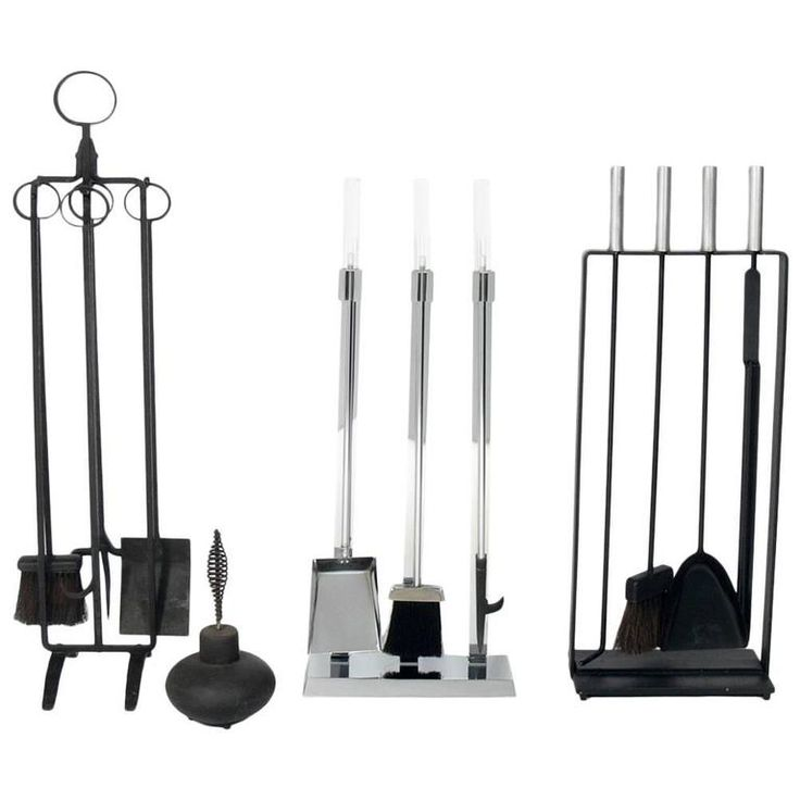 Selection of Modern Fire Tools | From a unique collection of antique and modern fireplace tools and chimney pots at https://www.1stdibs.com/furniture/building-garden/fireplace-tools-chimney-pots/