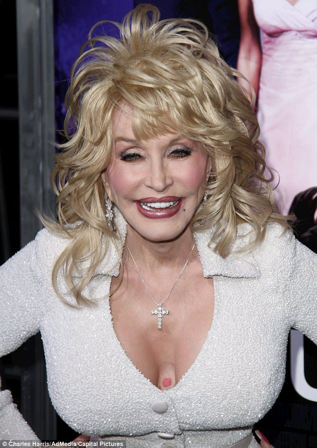 Dolly Parton apparently has tattoos all over her breasts and arms.