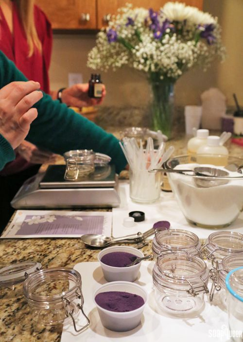 How to Throw a DIY Sugar Scrub Party + Recipe - Soap Queen - this would interesting to do with my sisters. Maybe rather than set recipes have it set up more like a sundae bar so we can create our own scrubs.