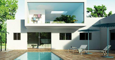 Oltre 25 fantastiche idee su case con piscina su pinterest for Piani patio esterno
