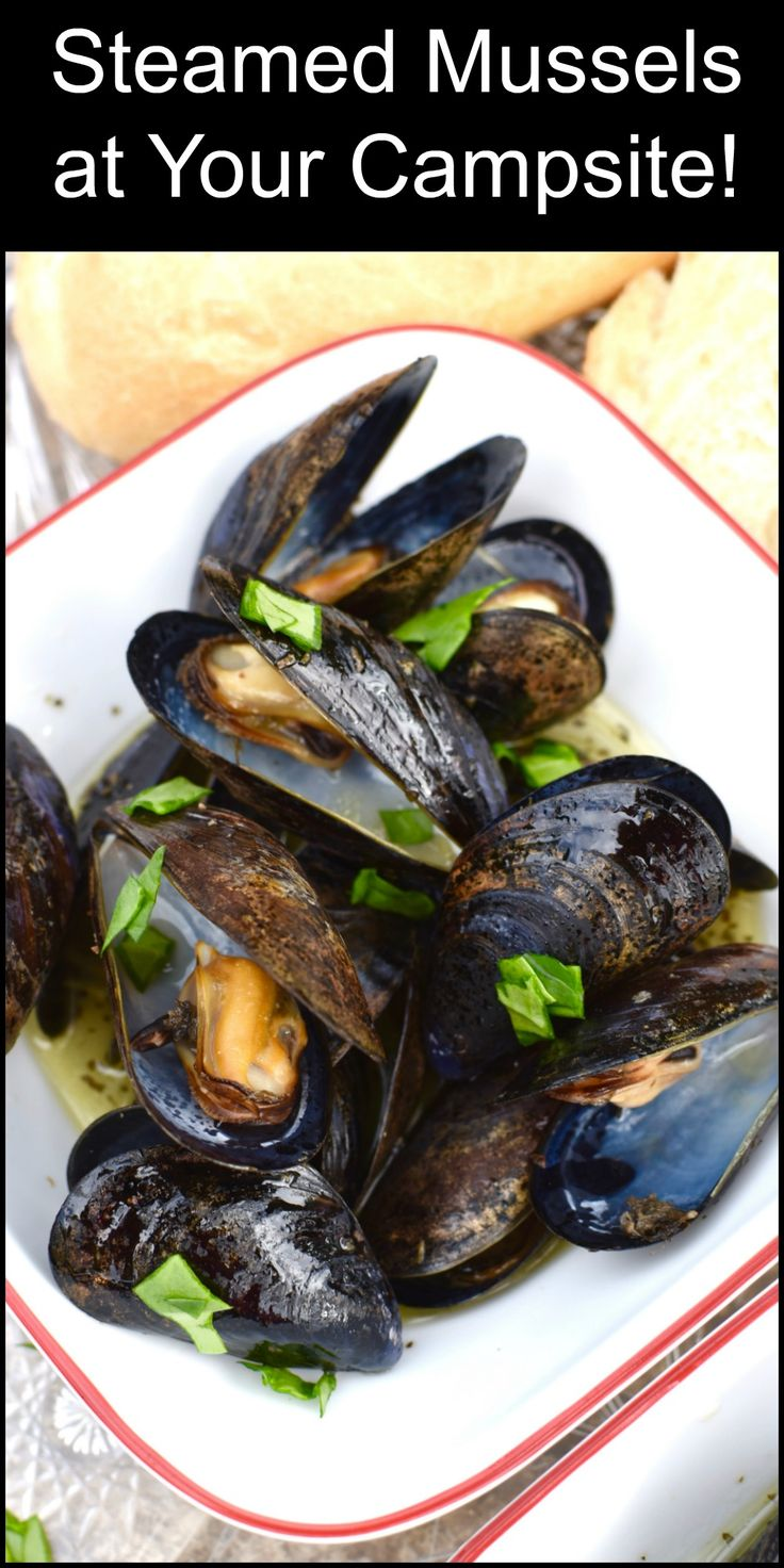 Take your Camping Food game up a notch. These Steamed Mussels will be a huge it at the campsite! And they're SO easy to make!