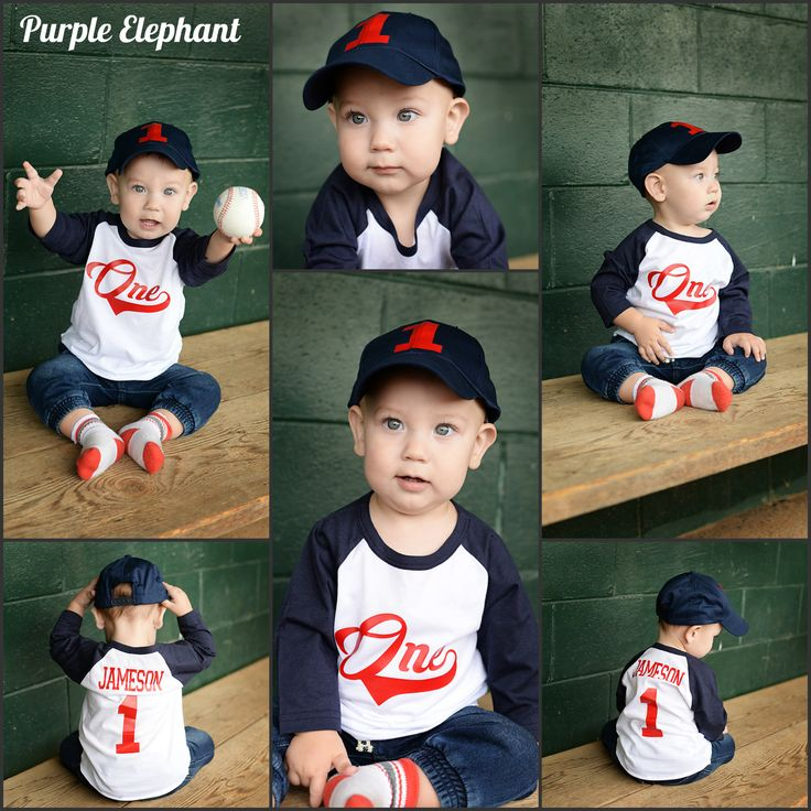 This is a custom baseball first birthday shirt for your baseball fan! This shirt is made to order we can customize the numbers and your child's name! The navy/grey raglan pictured is 3/4 length sleeve