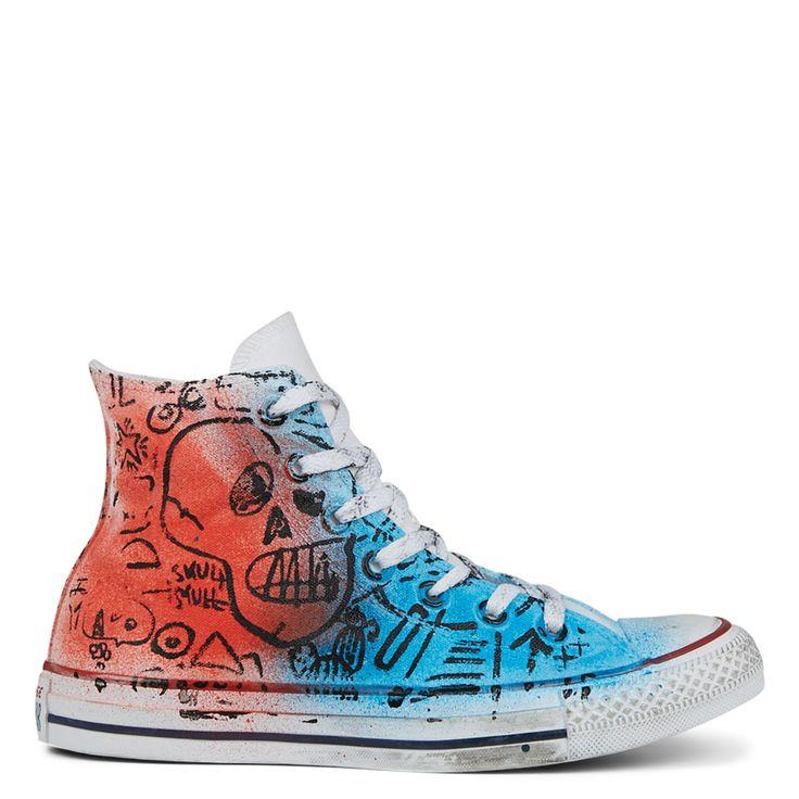 Converse Hand-Painted Graffiti Chuck Taylor All Star High Top ...