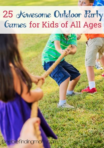 25 Awesome Outdoor Party Games for Kids of All Ages - The entire family will have a blast playing lawn twister, glow in the dark hopscotch, water pinata, and more.