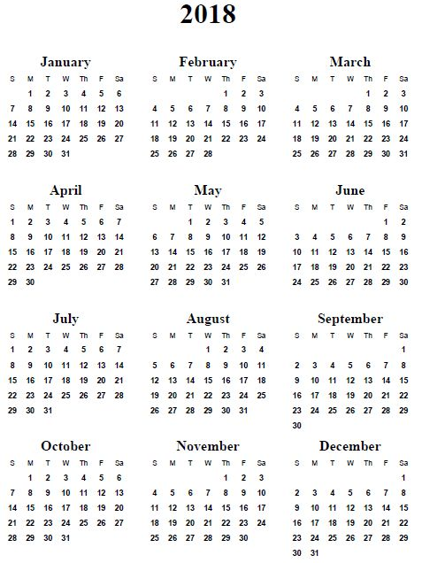 Image result for 2018 calendar template More