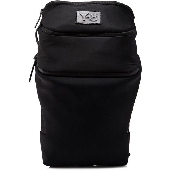 Y-3 Women's Icon Backpack ($370) ❤ liked on Polyvore featuring bags, backpacks, black, strap bag, y3 bag, backpack bags, rucksack bags and strap backpack
